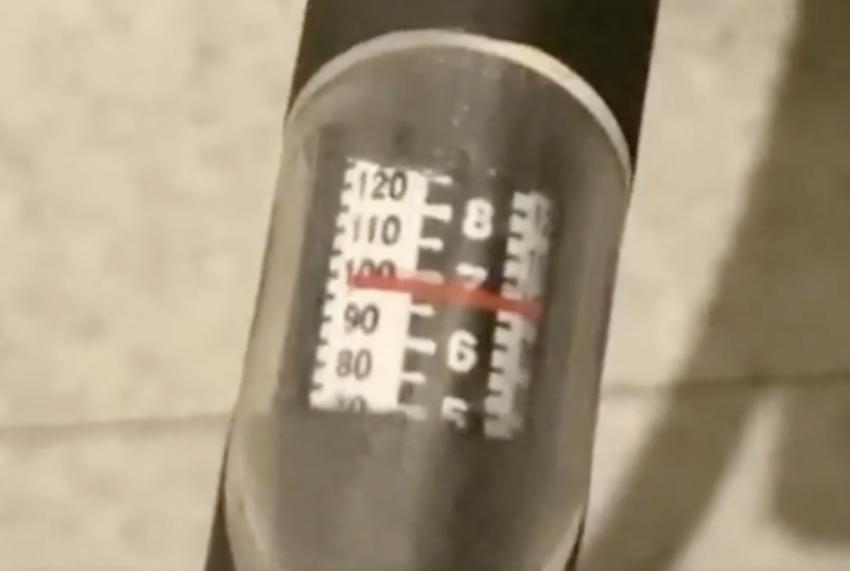PMSP81.Aで空気を100psiあたりまで入れた
