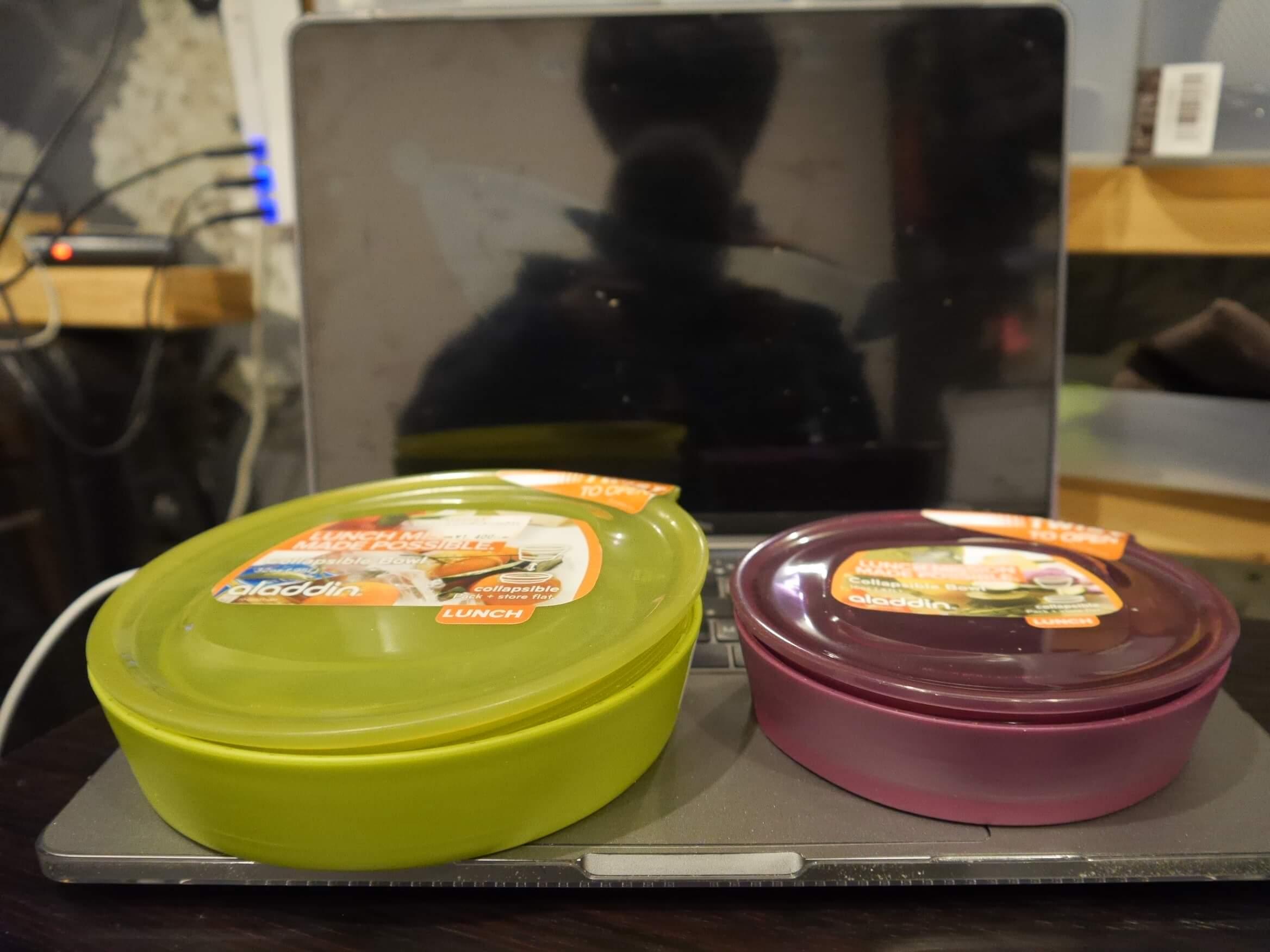 【アラジン アコーディオン コンテナ】モンベルの店舗で見つけた折り畳みの容器はとても便利