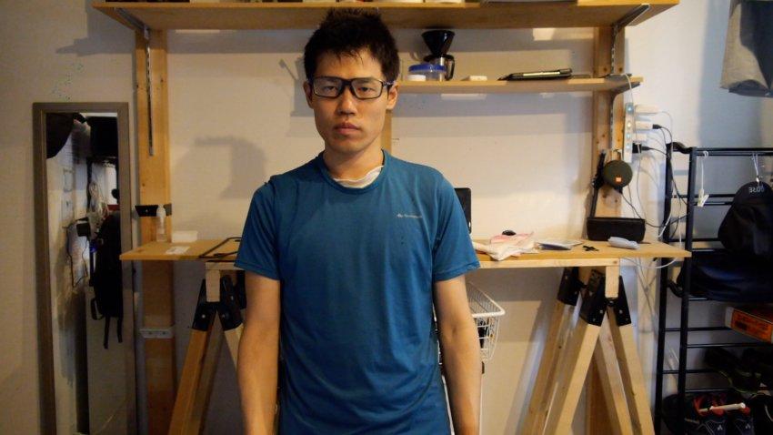 デカトロンのTシャツ(MH 100)
