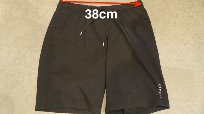 デカトロン :サッカー ショートパンツ F500 寸法